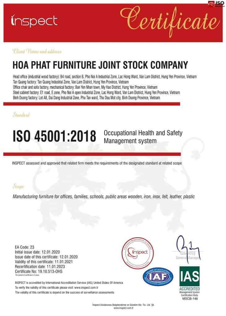 may giay chung nhan iso 45001 isoquocte 731x1024 - Chứng Nhận ISO 45001 : 2018