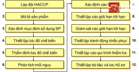 12 bước xây dựng HACCP