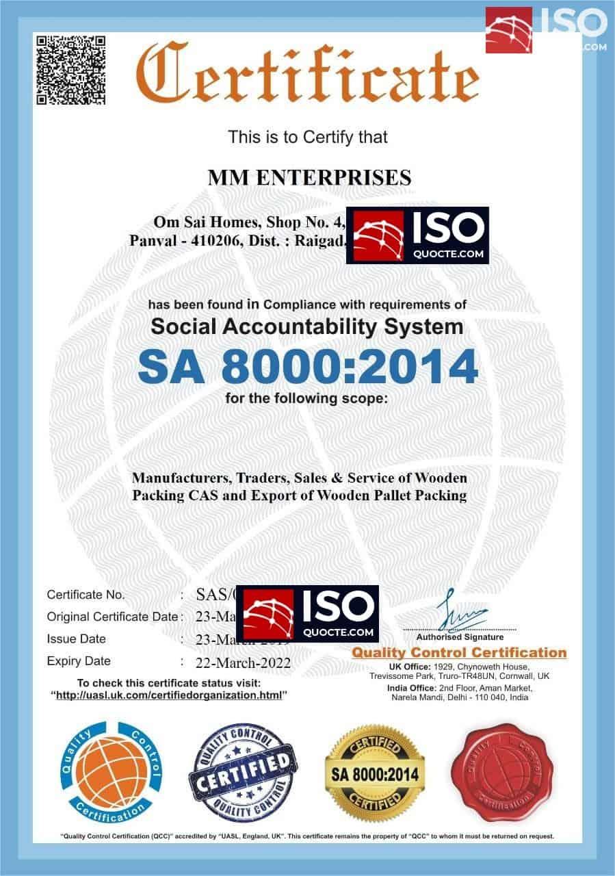 Chung nhan SA 8000 - Chứng Nhận SA 8000 Tiêu chuẩn trách nhiệm xã hội