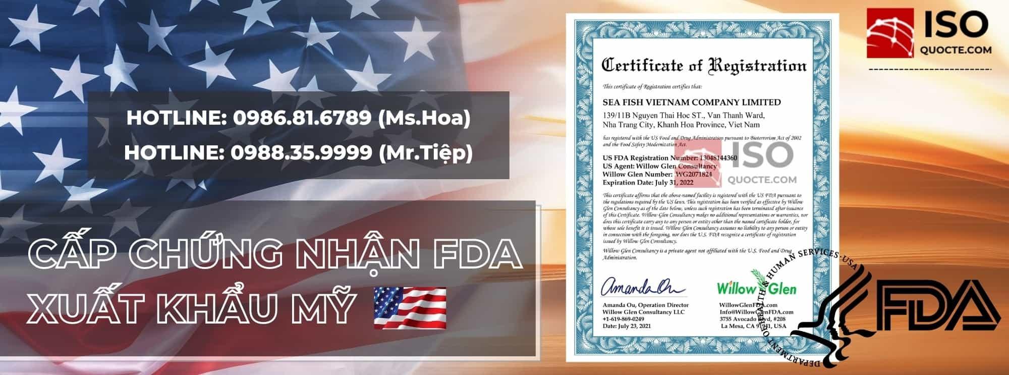 dangky chung nhan fda my hoa ky - Cấp Chứng Nhận FDA cho Thực phẩm, Mỹ Phẩm, Thuốc, Thiết Bị Y Tế